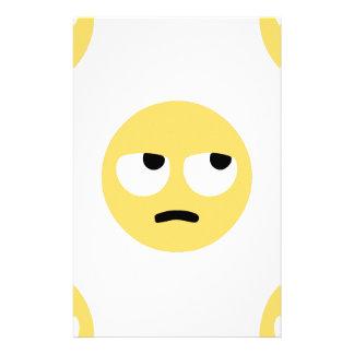 Papelaria rolamento do olho do emoji