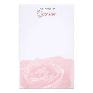 Papelaria Rosa bonito do rosa personalizado com artigos de