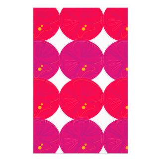Papelaria Rosa das fatias dos limões do design