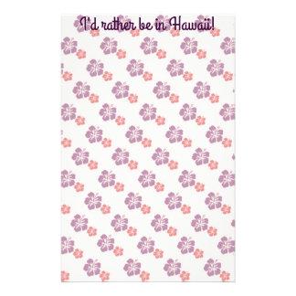 Papelaria Rosa e roxo havaianos da flor