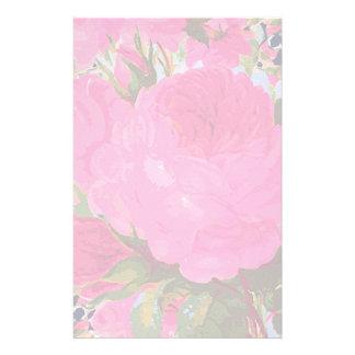 Papelaria Rosas cor-de-rosa da couve