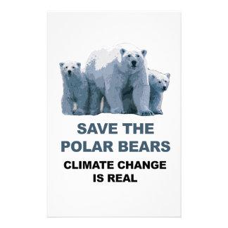 Papelaria Salvar os ursos polares