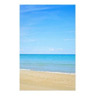Papelaria Sandy Beach e mar Mediterrâneo azul