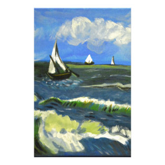 Papelaria Seascape em Saintes-Maries, Van Gogh