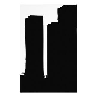Papelaria Silhueta da arquitectura da cidade