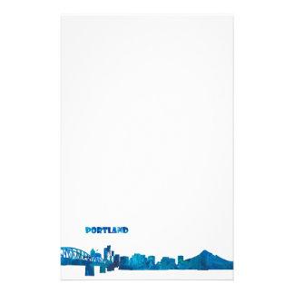 Papelaria Silhueta da skyline de Portland