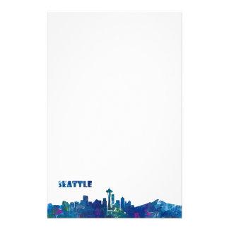 Papelaria Silhueta da skyline de Seattle