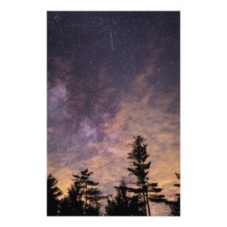Papelaria Silhueta das árvores na noite