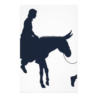Papelaria Silhuetas cristãs da ilustração de Mary e de