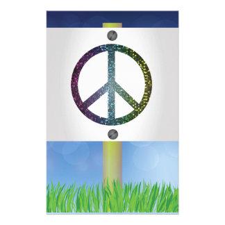 Papelaria símbolo de paz