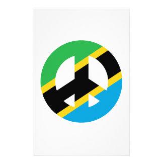 Papelaria Símbolo de paz tanzaniano