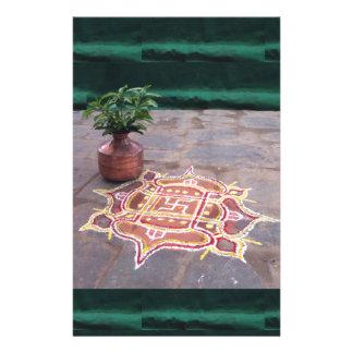 Papelaria Símbolos indianos do casamento do rangoli da