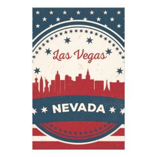 Papelaria Skyline retro de Las Vegas