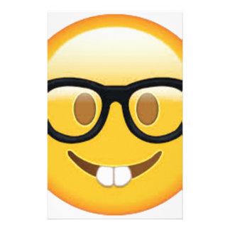 Papelaria Smiley face Geeky de Emoji