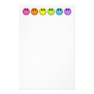 Papelaria Smileys face coloridos
