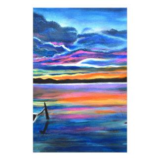 Papelaria Sozinho esquerdo uma pintura do barco do seascape