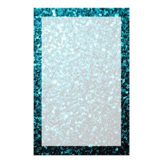 Papelaria Sparkles azuis do brilho do Aqua bonito