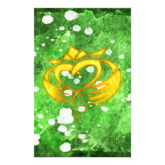 Papelaria Splatter celta irlandês de Claddagh
