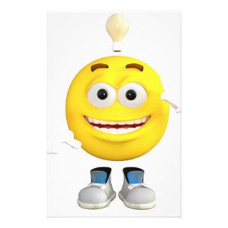 Papelaria Sr. Brainy que o Emoji esse ama pensar