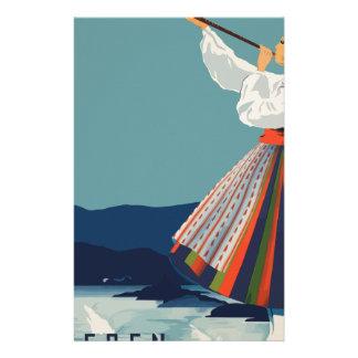 Papelaria Suecia das viagens vintage