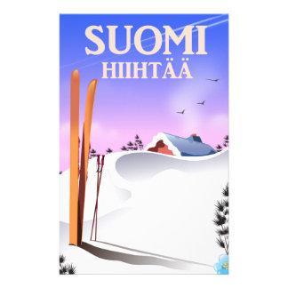 Papelaria Suomi Hiihtää (Finlandia a esquiar)