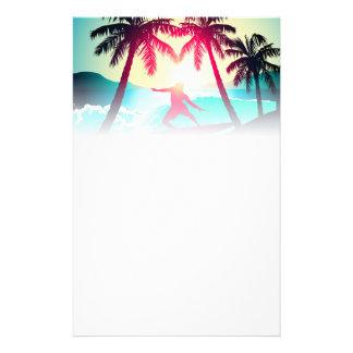 Papelaria Surfar com palmeiras