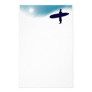 Papelaria surfar da luz do sol