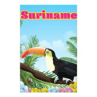 Papelaria Suriname sul - poster de viagens americano do