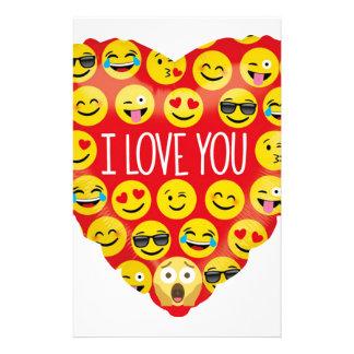 Papelaria Surpreendendo eu te amo o presente de Emoji