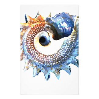 Papelaria T espiral dourado da ioga do Seashell da mandala