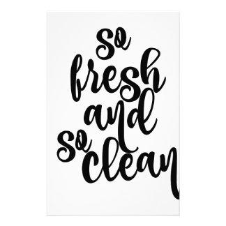 Papelaria Tão fresco e tão limpo