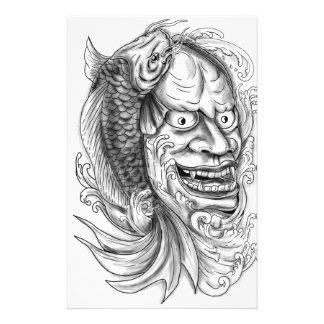 Papelaria Tatuagem de conexão em cascata da água dos peixes