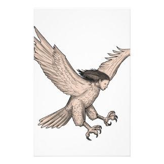 Papelaria Tatuagem Swooping do Harpy