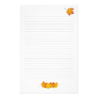Papelaria Tema da queda das folhas de bordo, papel de carta