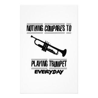 Papelaria Tendendo o design da trombeta