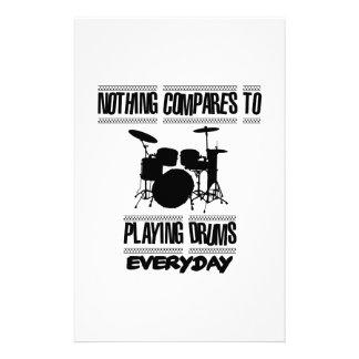Papelaria Tendendo o design do baterista