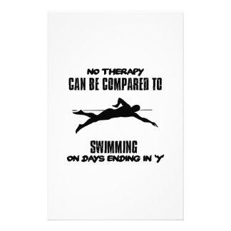 Papelaria Tensão e design impressionante da natação