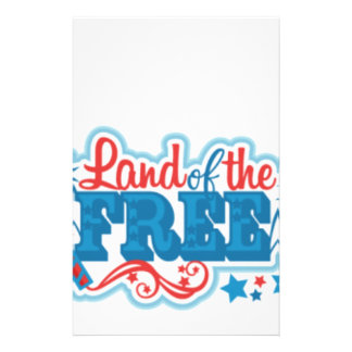 Papelaria Terra dos presentes americanos Livres, liberdade