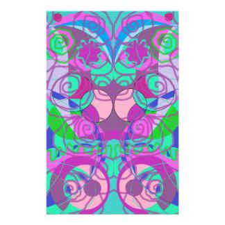 Papelaria teste padrão abstrato dos redemoinhos femininos