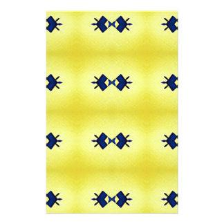 Papelaria Teste padrão amarelo vibrante brilhante do marinho