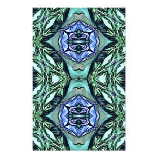 Papelaria Teste padrão artístico do Lilac Funky da cerceta