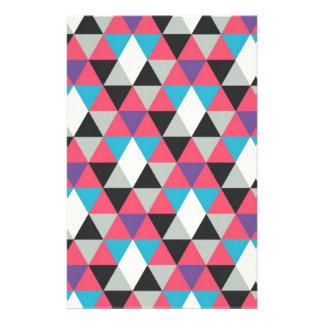 Papelaria Teste padrão azul e branco cor-de-rosa do