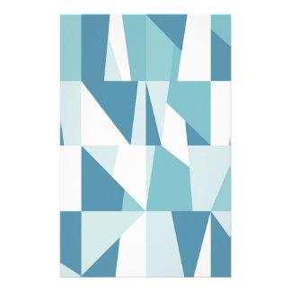 Papelaria Teste padrão azul geométrico