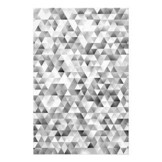 Papelaria Teste padrão cinzento do triângulo