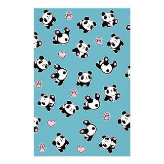 Papelaria Teste padrão da panda