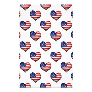 Papelaria Teste padrão dado forma coração da bandeira do