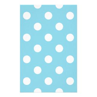 Papelaria Teste padrão de bolinhas azul e branco