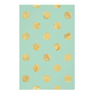 Papelaria Teste padrão de bolinhas elegante da folha de ouro