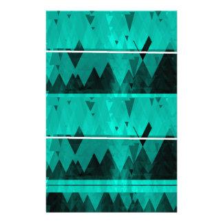 Papelaria Teste padrão de cristal azul da montanha do gelo