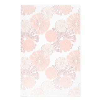 Papelaria Teste padrão de flor cor-de-rosa do ouro